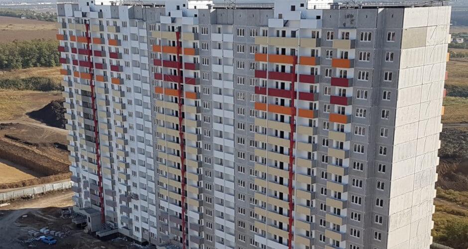 Вид на дом Литер 33 на Участке 120 ЖК Суворовского