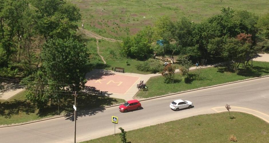 Вырубка сквера, расположенного возле домов по адресу Платона Кляты, 1 и Петренко, 2