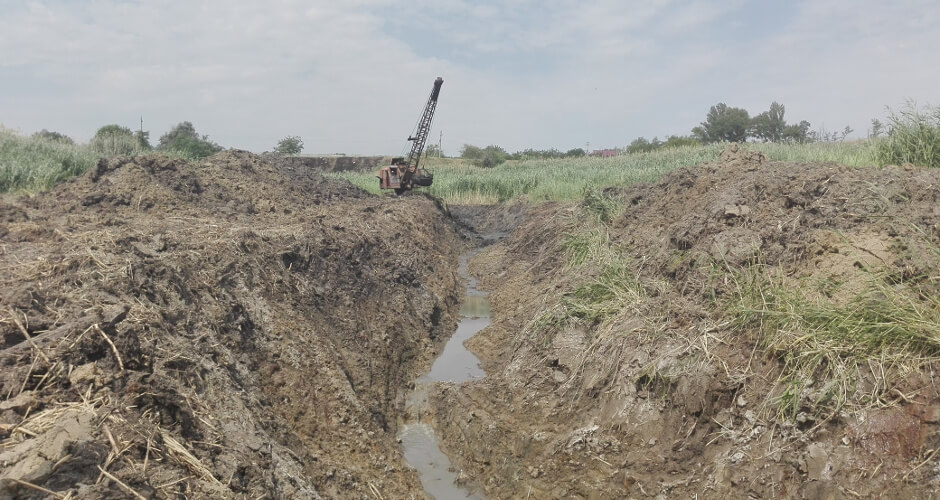 Русло канала в балке Чард ЖК Суворовского