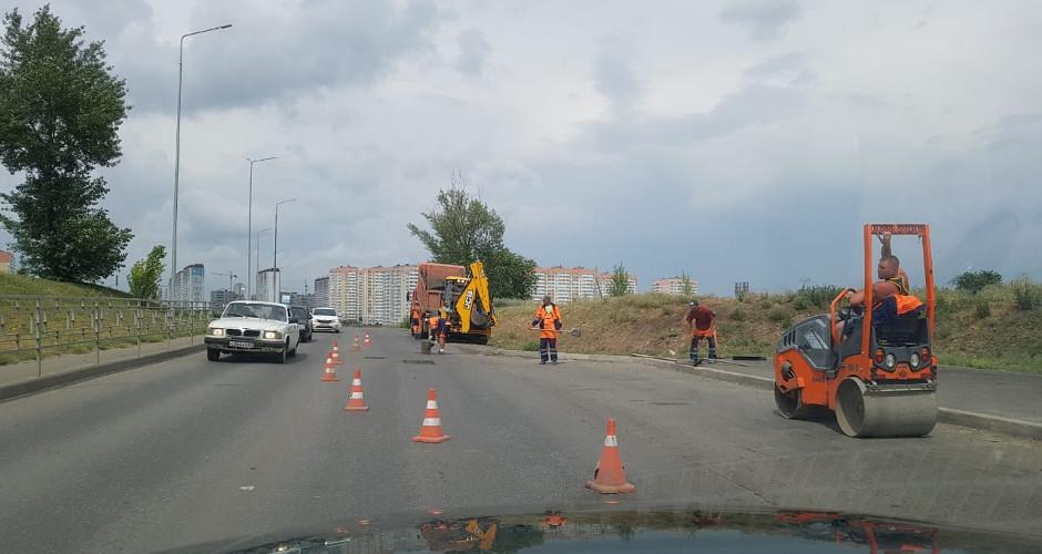 Ремонт дороги в ЖК Суворовском