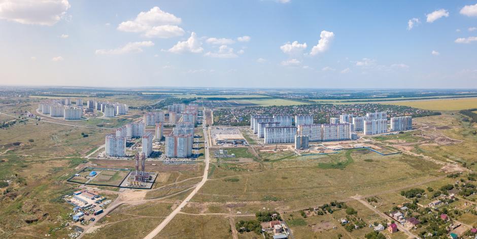 Вид на ЖК Суворовский от лета 2018 года
