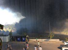 Пожар возле ЖК Суворовского