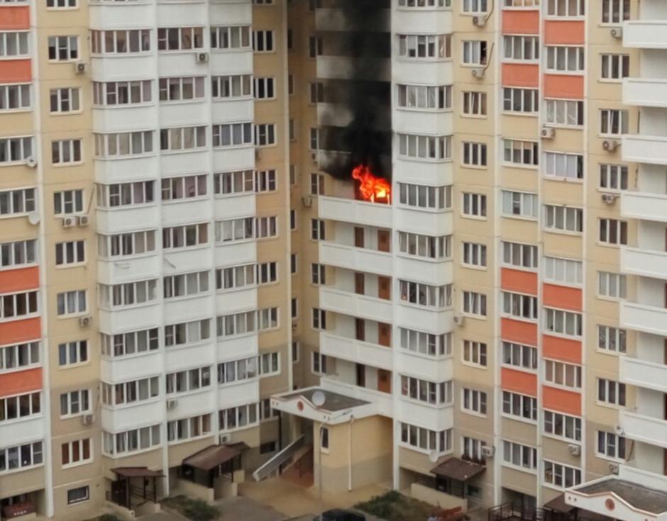 Пожар в ЖК Суворовский на Петренко, 16