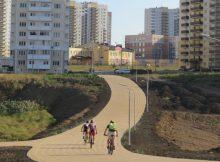Профессиональные велосипедисты в ЖК Суворовский