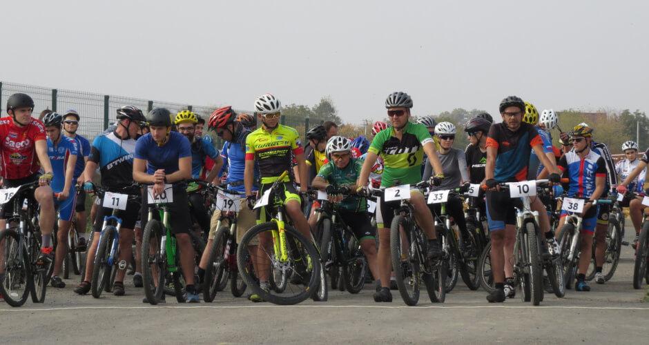 Старт велосипедной гонки