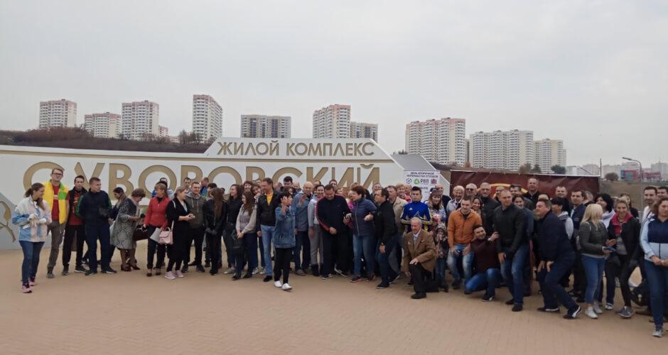 Общее фото жителей Суворовского на Дне древонасаждения 2018
