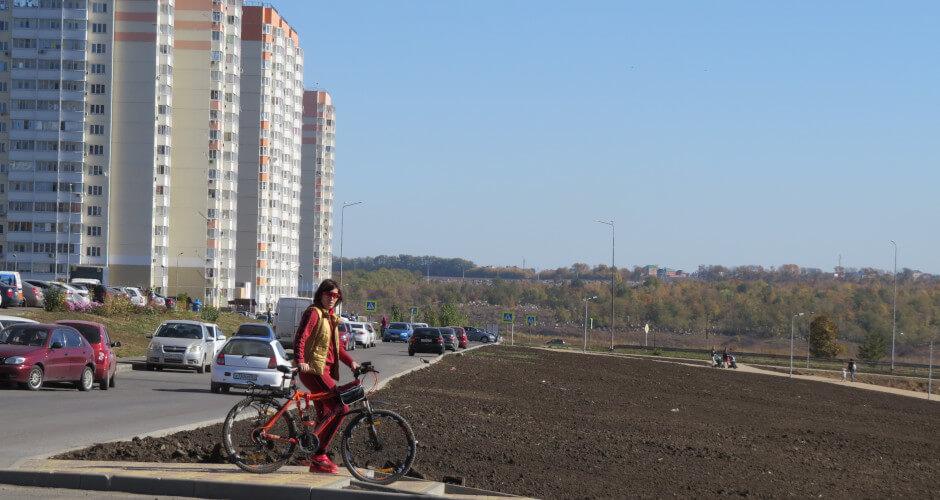 Участница суворовского велоклуба