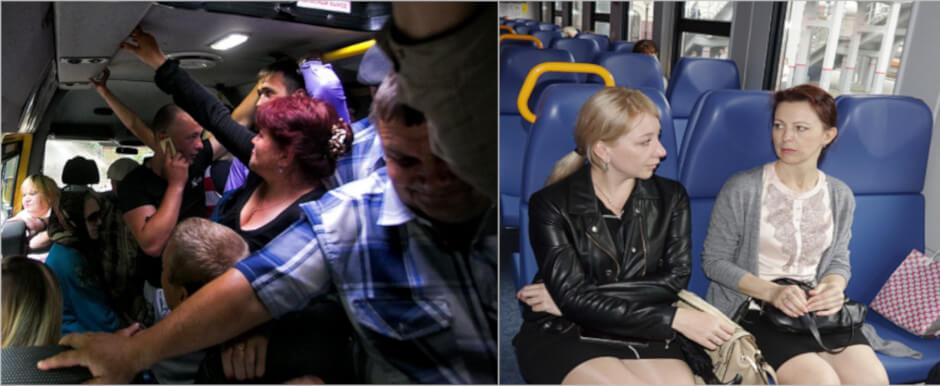 Городская электричка лучше автобусного транспорта