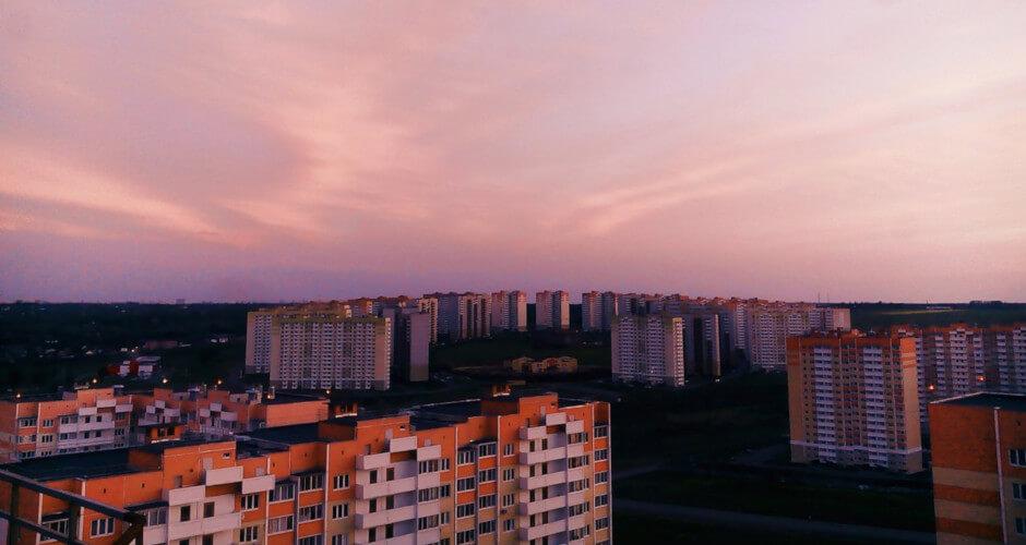Дневной вид сверху на ЖК Суворовский