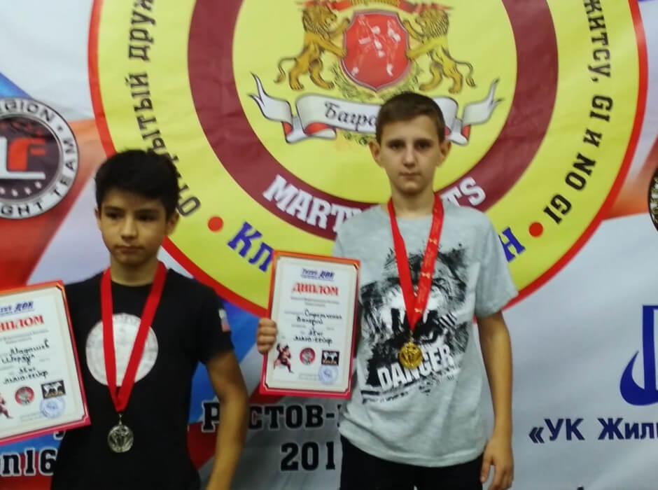Дети-спортсмены спортивного клуба Суворов
