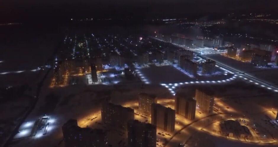 Видео нового года в ЖК Суворовский 01 января 2019