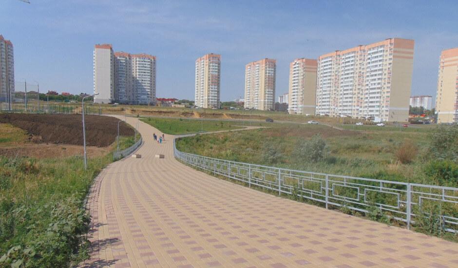 Переход по балке Чадр в ЖК Суворовский. Вид 4.
