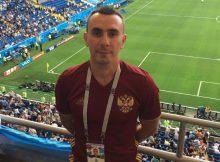 Тренер футбольной команды Суворовского Александр Линов