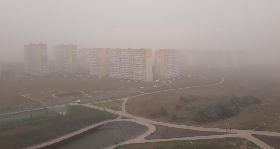 Пыльная буря в ЖК Суворовский. Вид 2.