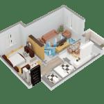 Схема 2-комнатной квартиры в ЖК Суворовский