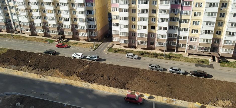 Новые дороги и озеленение в ЖК Суворовский