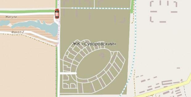 Отображение маршрута №43 в
