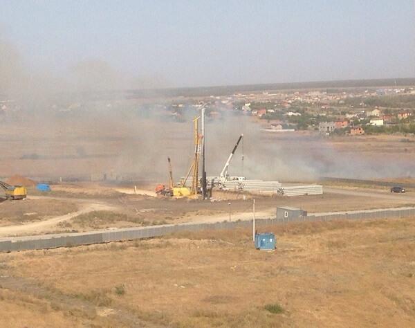 Пожар травы возле Суворовского потушен