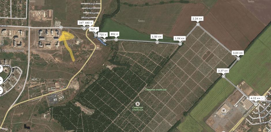 Короткая дорога от ЖК Суворовского до Ашана